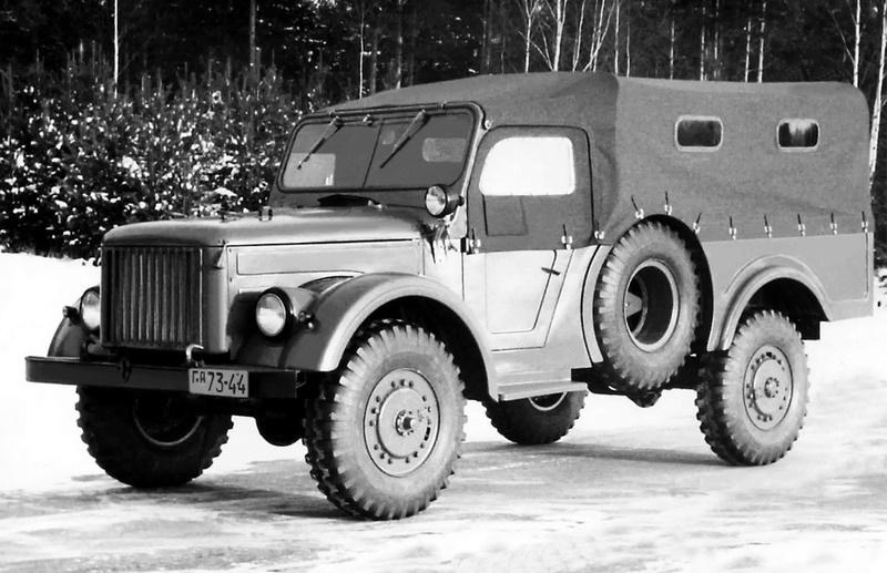 Опытный внедорожник ГАЗ-62, 1952 год